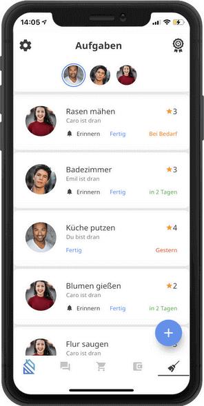 Eure WG und Putzplan App